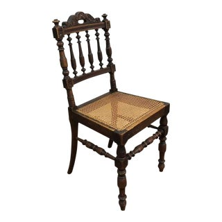 Antique Cane Accent Chair