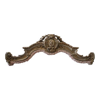 19th Century French Gilded and Carved Bed Corona Cornice
