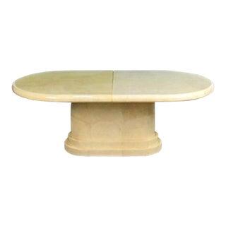 Mid-Century Modern Art Deco Karl Springer Goatskin Table