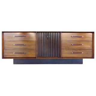 Lane Mid-Century Rosewood & Walnut Dresser