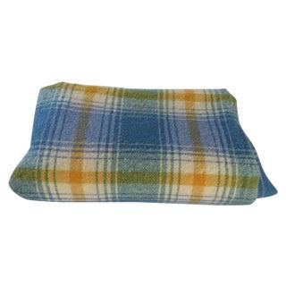 Turquoise Plaid Blanket