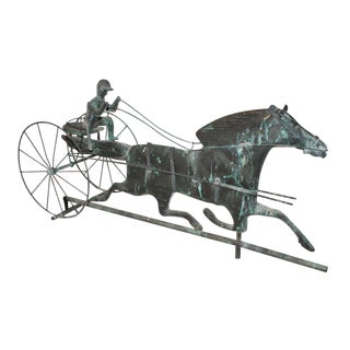 Early 20th Century Mounted Horse and Rider Weathervane
