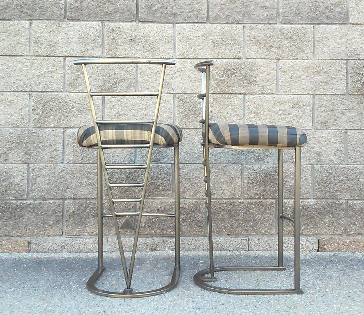 Milo Baughman Bar Stools A Pair Chairish