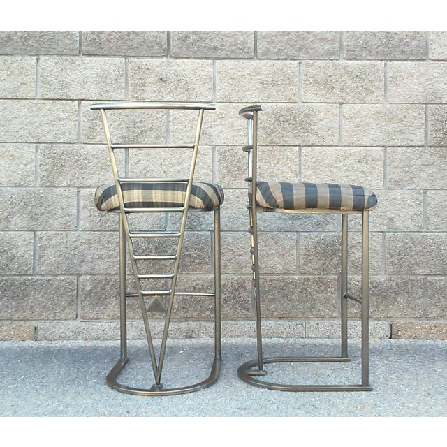 Milo Baughman Bar Stools -- A Pair - Image 3 of 10