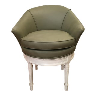Louis XVI Style Low Swivel Vanity Stool