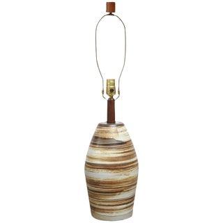 Martz for Marshall Studios Earth-Tone Swirl Ceramic Lamp