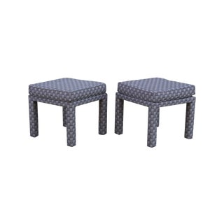 Parsons Style Ottomans - A Pair