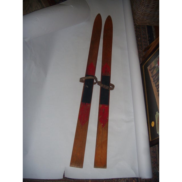 Vintage Wood Child's Skis - A Pair - Image 3 of 7