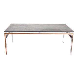 Coffee Table with Slate Stone Top, Denmark circa 1960