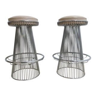 Mid-Century Wire Cone Barstools - A Pair