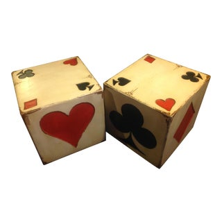 Uttermost Poker Card Side Tables - A Pair
