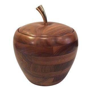 Apple Shaped Ice Bucket in Dark Walnut