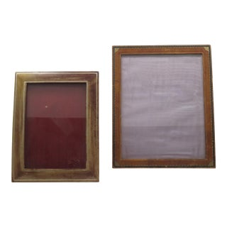 Vintage Leather Picture Frames - A Pair