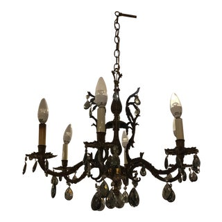 Vintage Spanish Style Crystal Chandelier