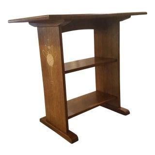 Harvey Ellis Stickley Inlaid Oak Side Table