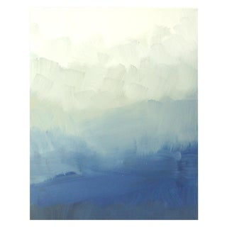 Modern Blue Ombre Abstract Painting