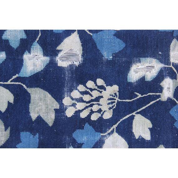 Indigo Blue Chinoiserie Art Deco Rug - 7′ × 20′ - Image 5 of 5
