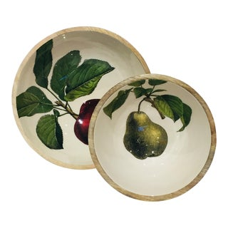 Farm to Table Wooden Bowls - a Pair