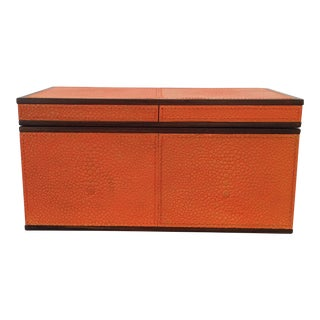 Imogen Orange Leather Box