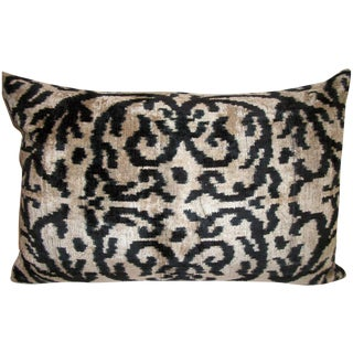 Celestial Silk Velvet Ikat Pillow