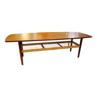 Circa 1960s Danish Modern Teak Coffee Table