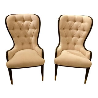 Caracole Black and White Host Chairs - a Pair