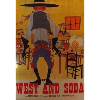 1965 Original Italian Cowboy Movie Poster