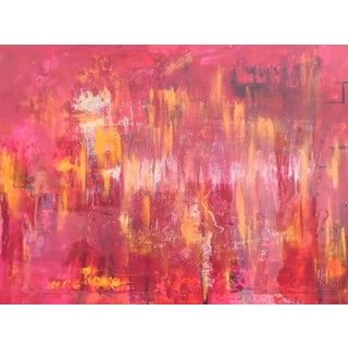 'One Love' Contemporary Red Abstract Painting