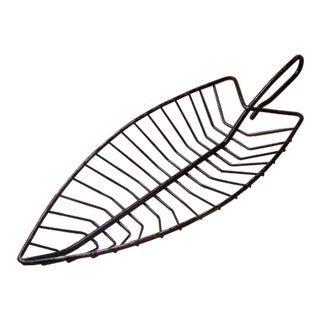 Vintage Wire Leaf Basket Tray