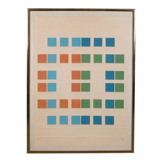 """Mid-Century Arlene Sherman """"Five of Six"""" Lithograph Printed in Colors, 1969"""
