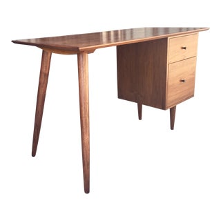 Custom Mid Century Solid Walnut Desk