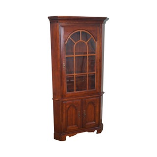 Vintage Solid Cherry Traditional Corner Cabinet