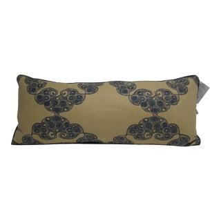 John Robshaw Tan & Navy Lumbar Pillow