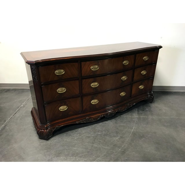 Councill Flame Mahogany Figural Carved Serpentine 9 Drawer Dresser - Image 10 of 11