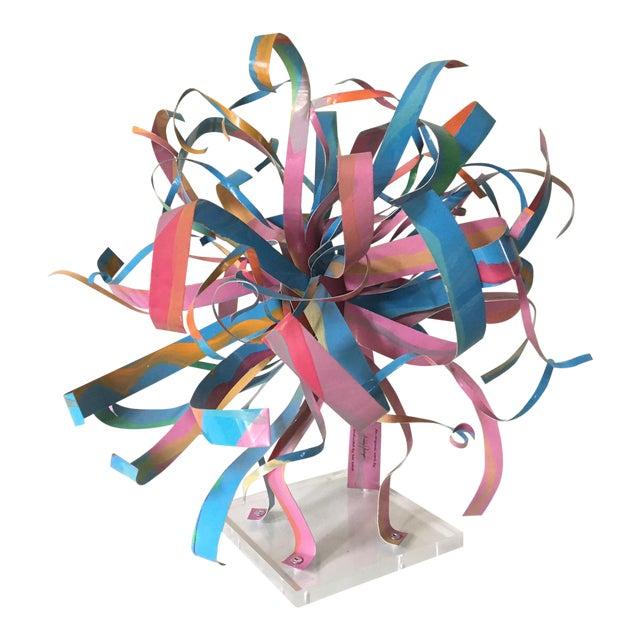 Dorothy Gillespie Starburst Metal Art Sculpture - Image 1 of 6