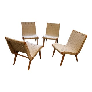 Jens Risom Armless Lounge Chairs - Set of 4