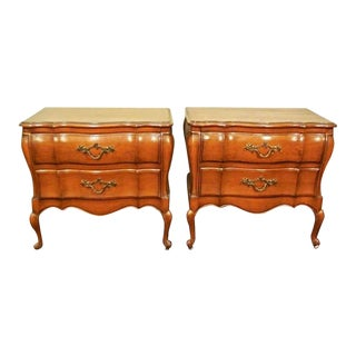 Louis XV French Provincial Nightstands- A Pair