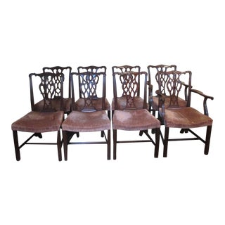 Chippendale Style Dining Room Chairs - Set of 8