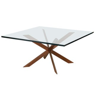 Double Cross Copper Coffee Table attributed to Pace Collection
