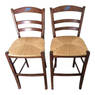Pottery Barn Contemporary Bar Stools - A Pair