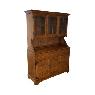 Ethan Allen Solid Maple Nutmeg Finish Traditional Hutch