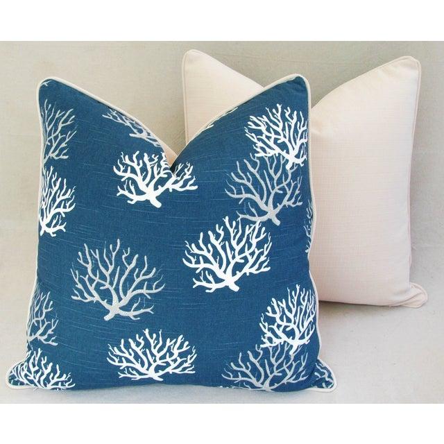 Custom Ocean & Beach Coral Branch Pillows - A Pair - Image 8 of 10