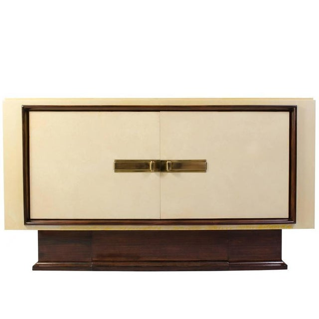 Art-Deco Vellum & Mahogany Sideboard Attributed to Paul Dupré-Lafon - Image 2 of 7