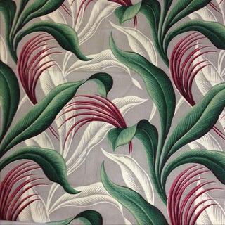 Mid-Century Modern Barkcloth Drapery Fabric - 4