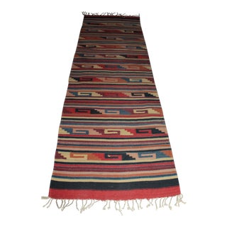 Turkish Kilim Jute Hand Woven Runner - 2′7″ × 10′6″