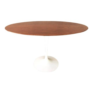 Authentic Walnut Oval Saarinen for Knoll Tulip Table