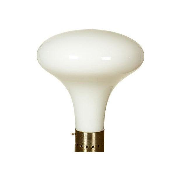 Image of 1960's Italian Mazzega Glass Floor Lamp