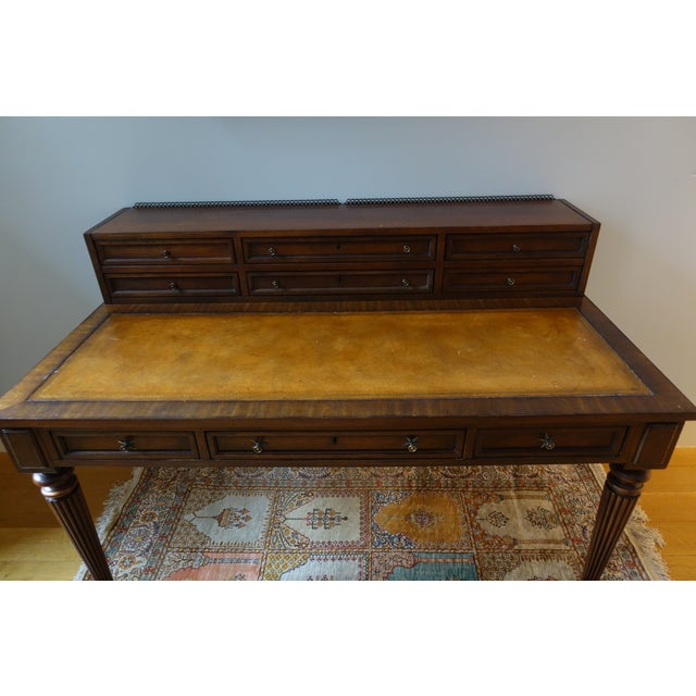 Drexel Heritage Leather-Top Desk - Image 7 of 9