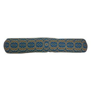 Flamestitch Needlepoint Bolster Pillow