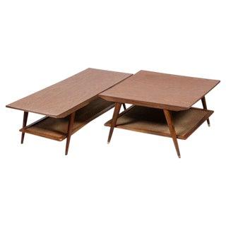 Mid-Century Mahogany Laminate Tables - 4